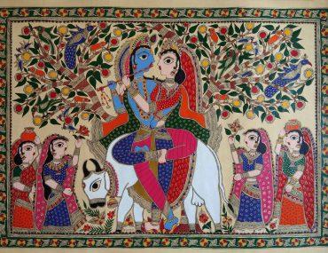 Madhubani Painting depicting Doli tradition in marriage
