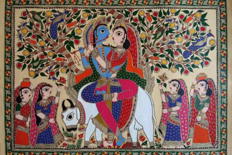 Madhubani Painting depicting Doli tradition in marriage