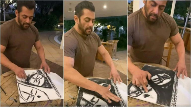Painting by Film Actor Salman Khan during Coronavirus Lockdown
