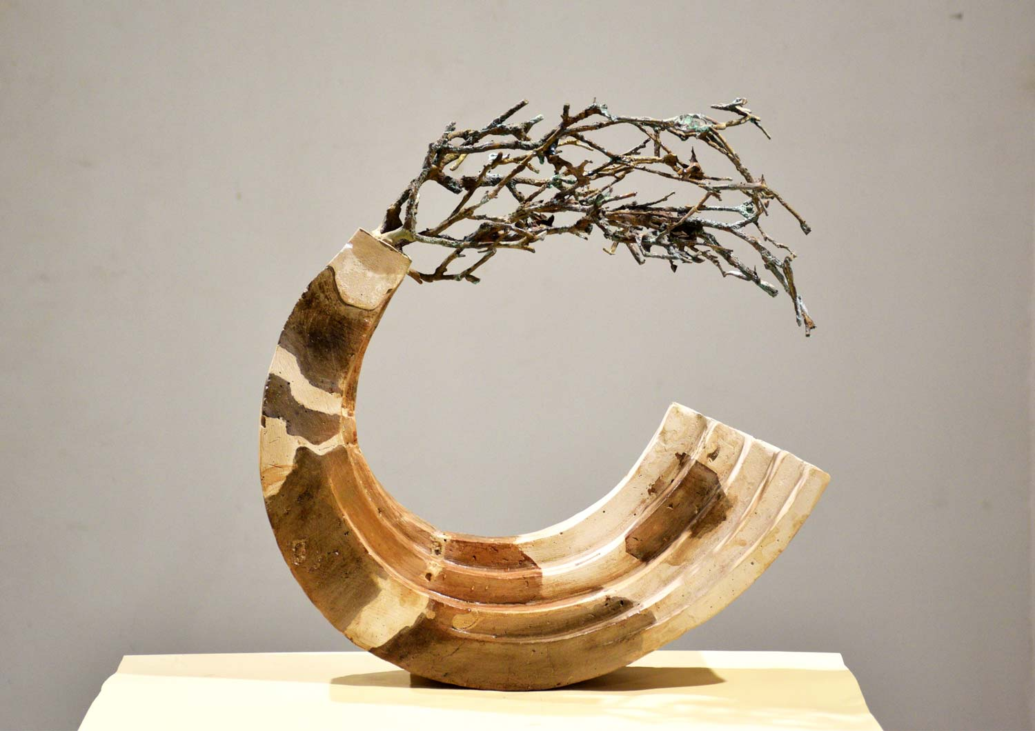 "Contemporary Sculpture with Mixed Media""Life Destroy Another life"" art by Vikas Kumar Yadav"