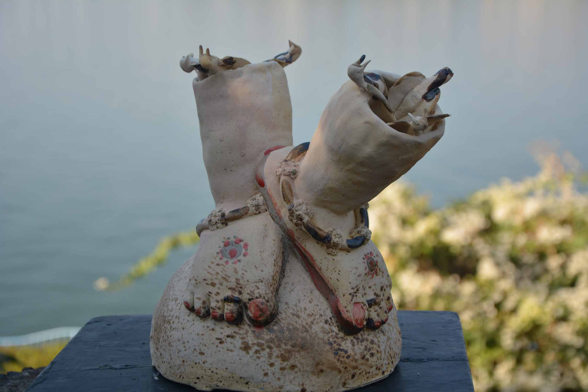 "Figurative Sculpture with Ceramic""Freedom"" art by Neha Syyed"