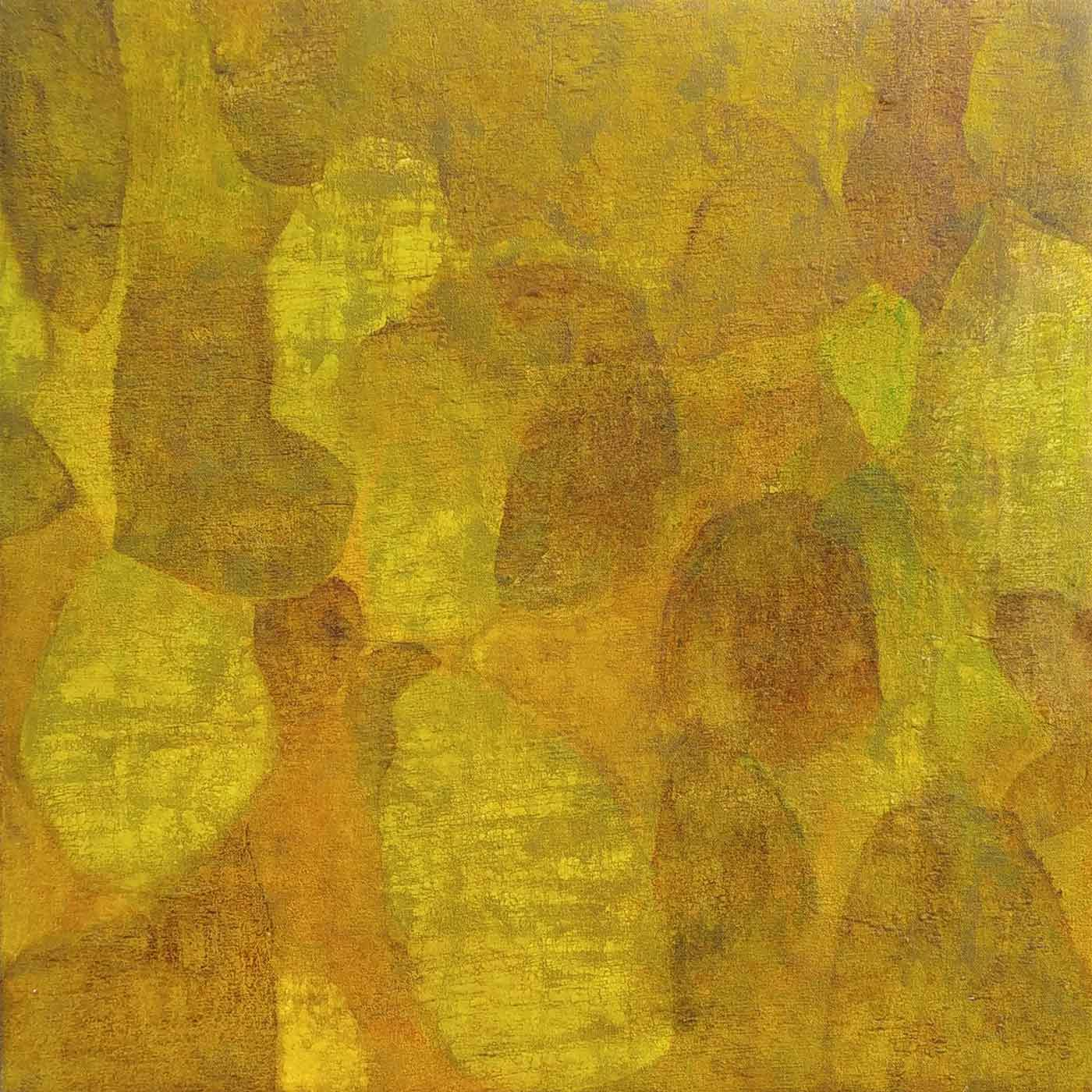 "Abstract Painting with Mixed Media on Canvas ""Abstract-1"" art by Ganesh Waman Apraj"