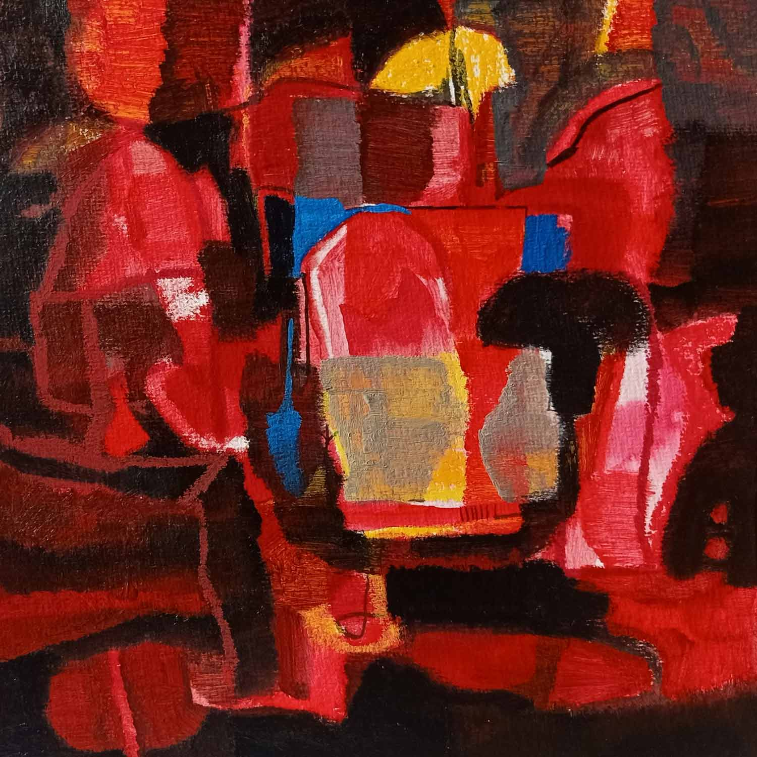 "Abstract Painting with Acrylic on Paper ""Abstract-8"" art by Abhijeet Shantaram Ghawale"
