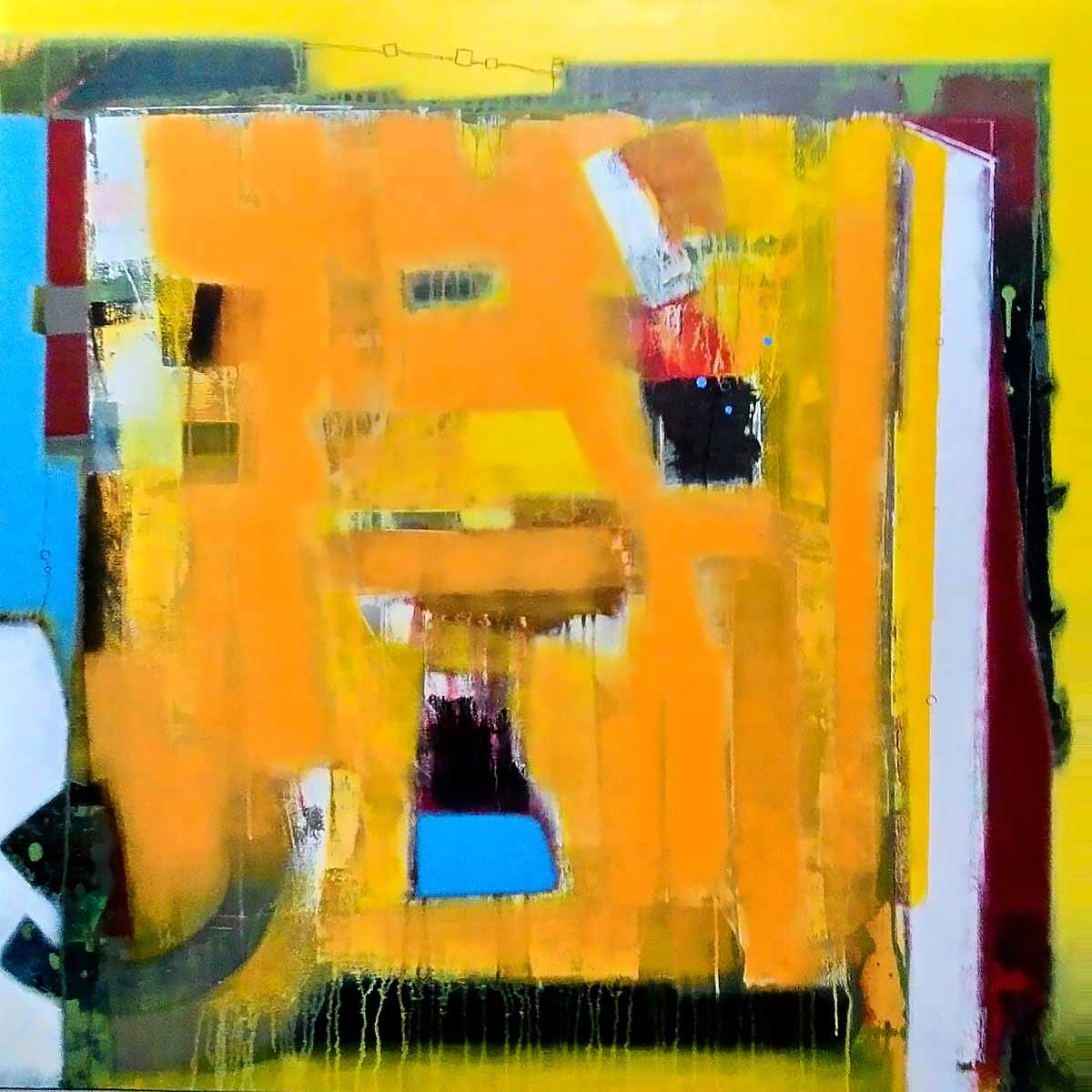 "Abstract Painting with Acrylic on Canvas ""abstract-2"" art by Sachin Pakhale"